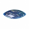Resin Sew-on Dichroic Style 10pcs 12x30mm Navette Blue